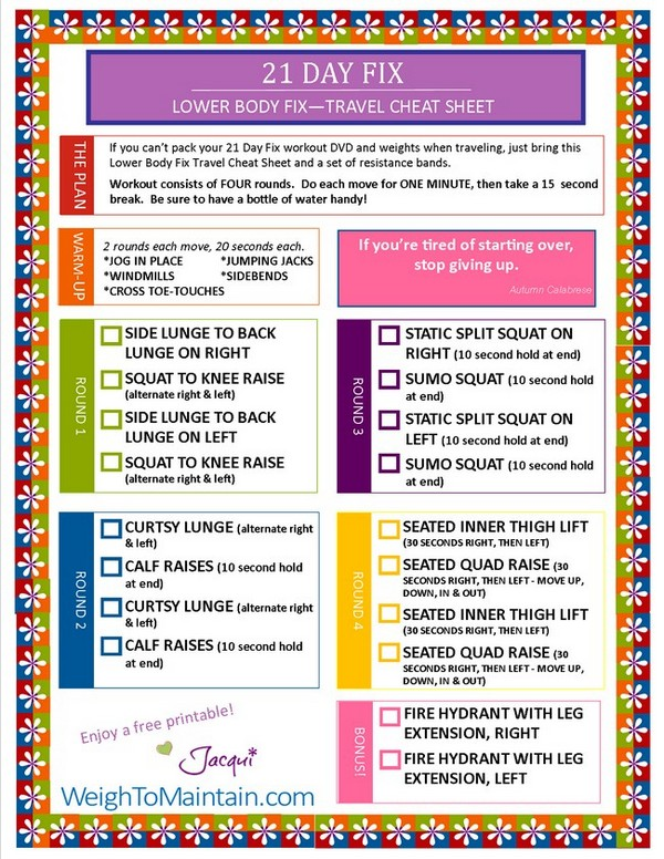 21 day fix extreme meal plan template