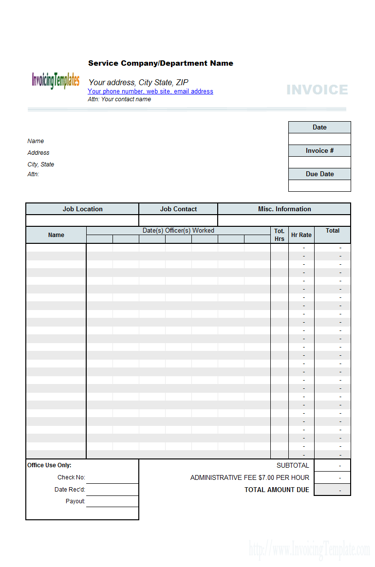 Create Invoices From Excel Spreadsheet  Invoice Spreadsheet