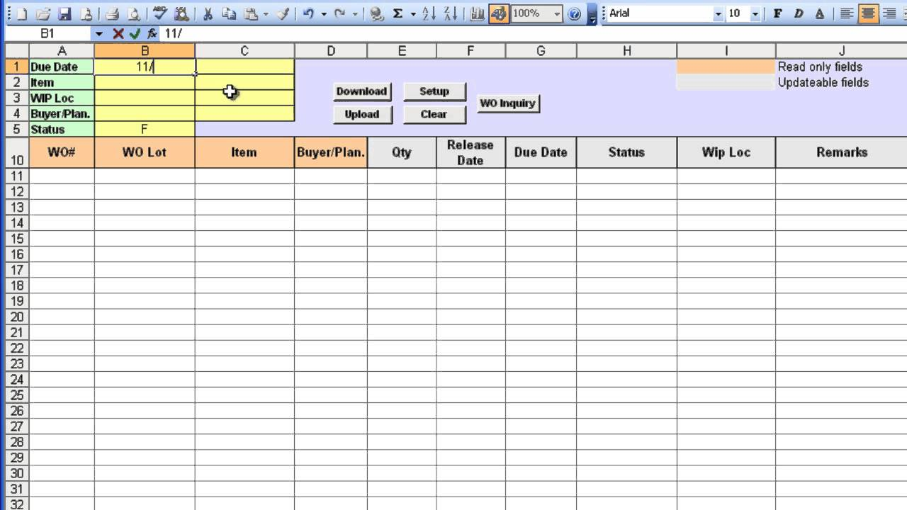 Free Po Tracking Spreadsheet Templates  Free Po Template