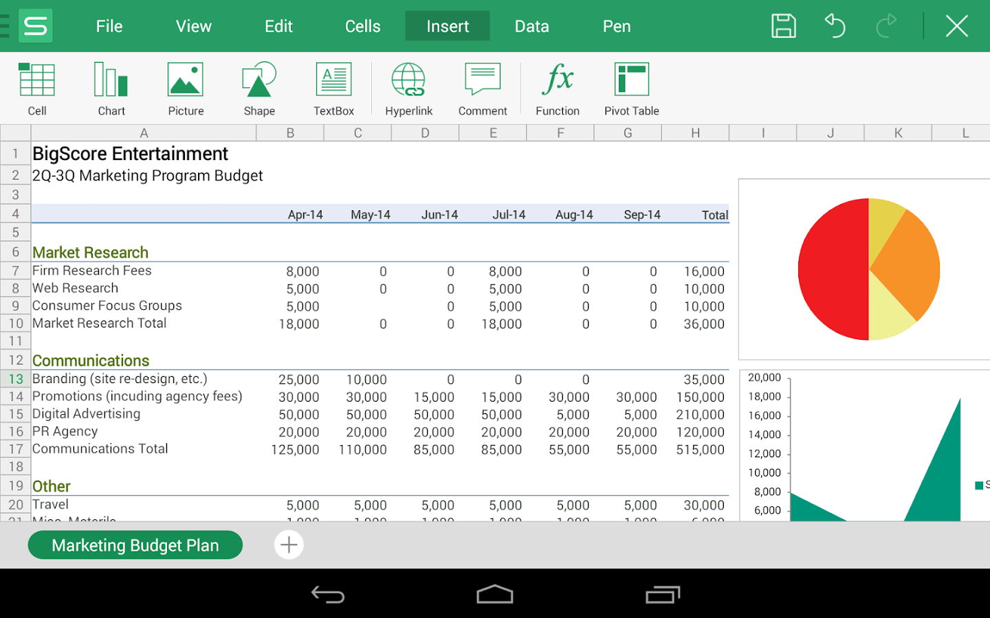 Free Spreadsheet Apps Templates