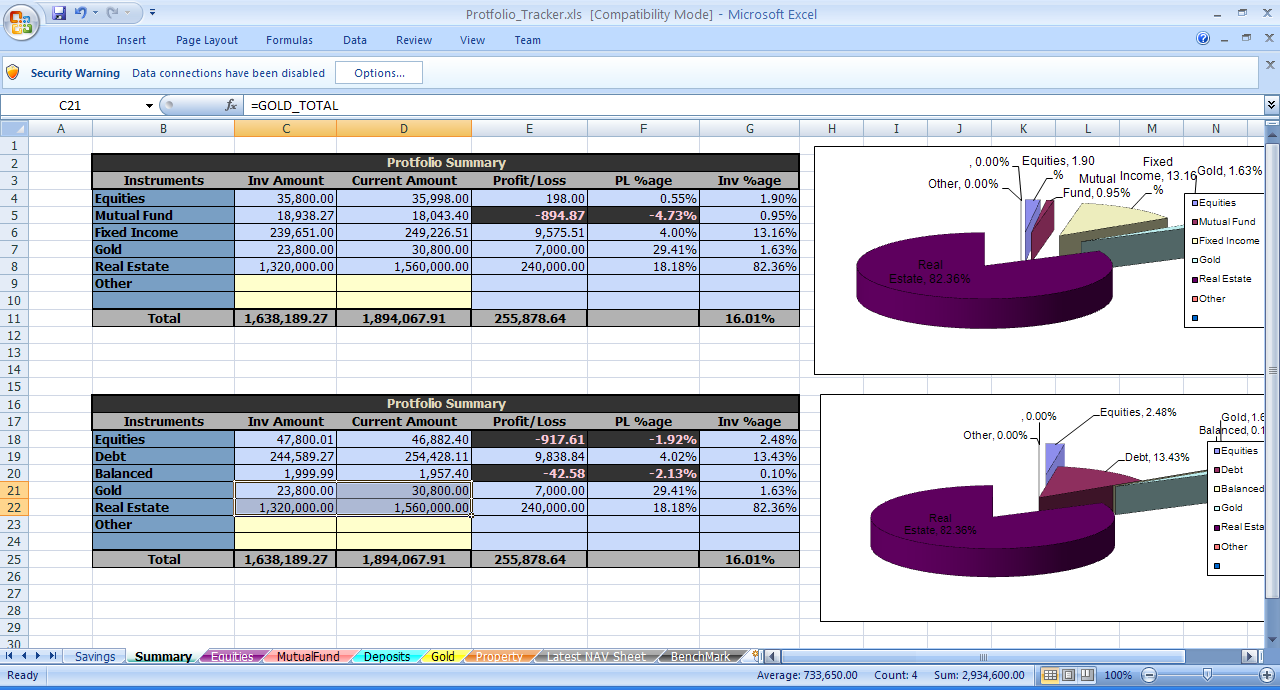 Free download investment tracking spreadsheet