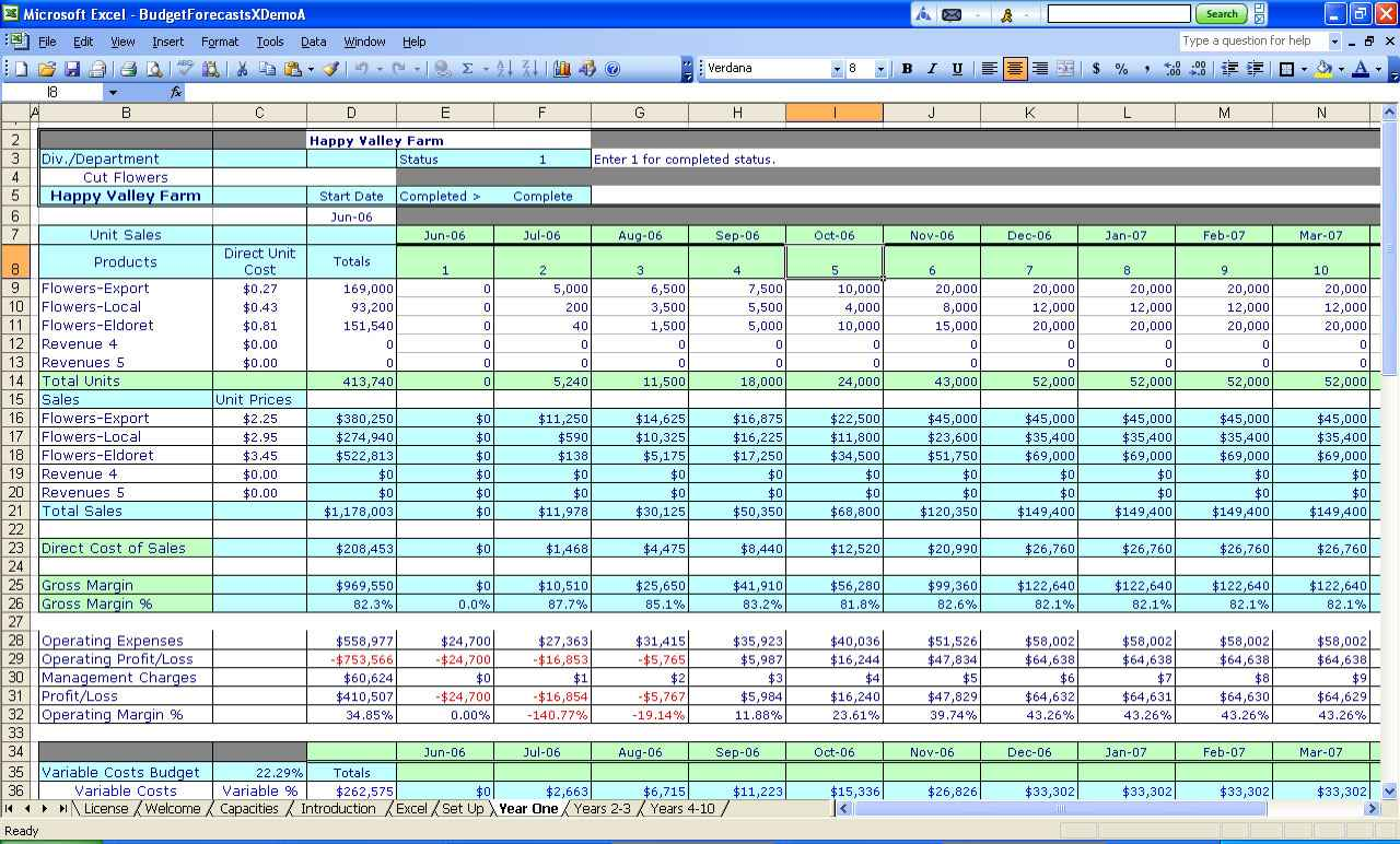 Free small business spreadsheet for income and expenses Templates