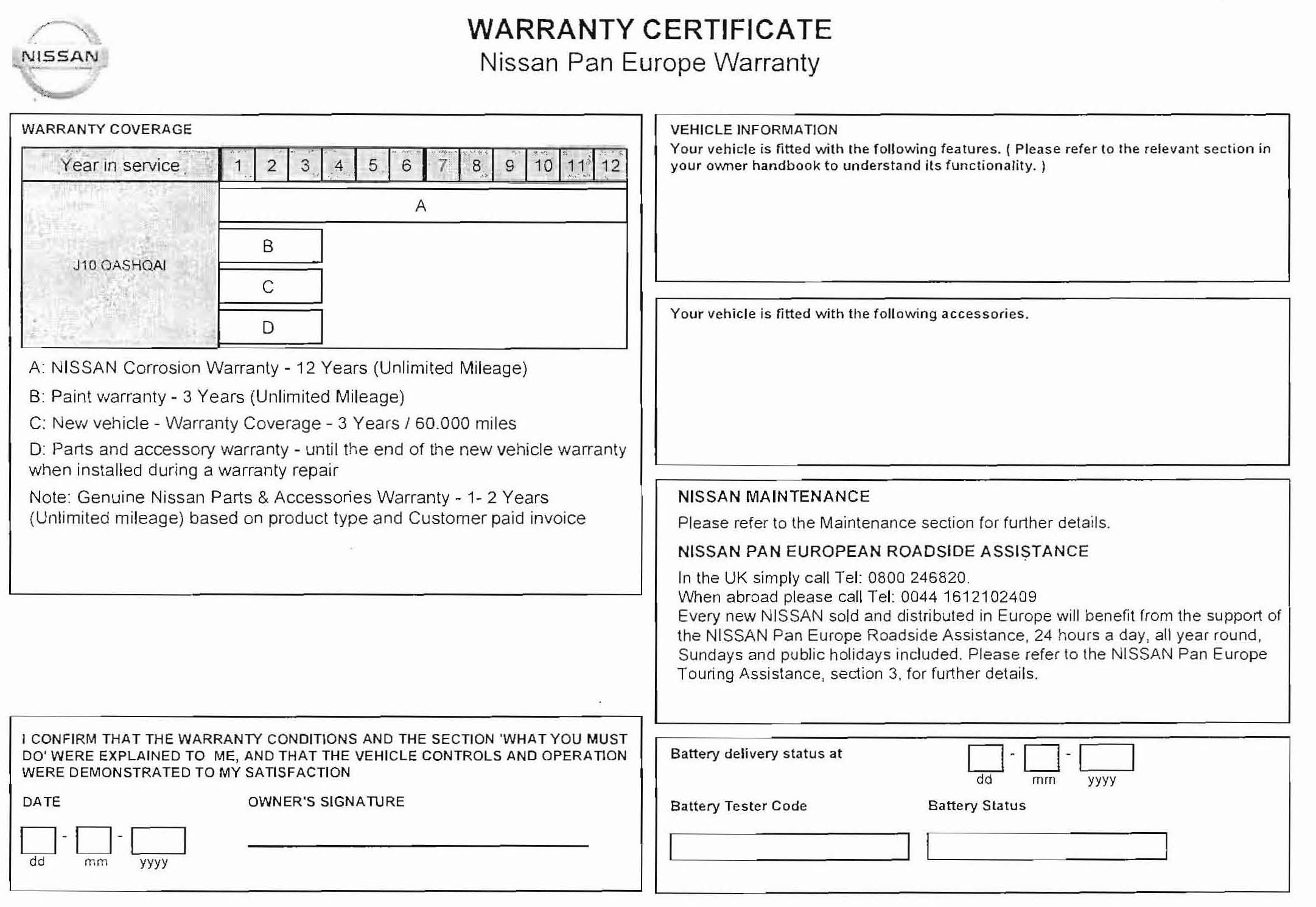 General Vehicle Maintenance Checklist Template