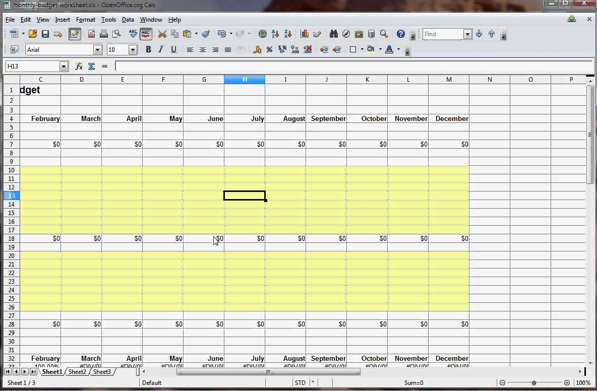 How To Make A Spreadsheet For Monthly Bills_1