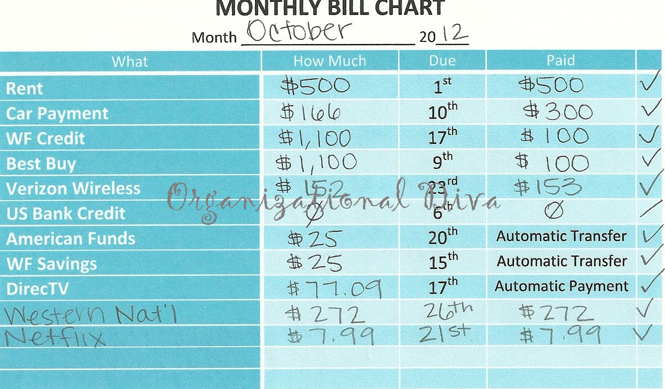 How To Make A Spreadsheet For Monthly Bills_88