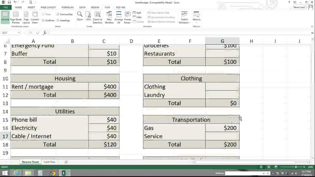 How To Make A Spreadsheet For Monthly Bills_92