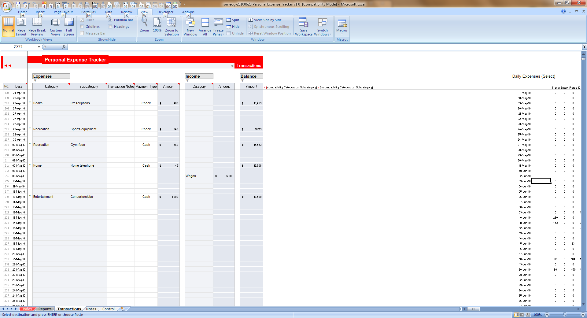 Keeping Track Of Expenses Spreadsheet Free