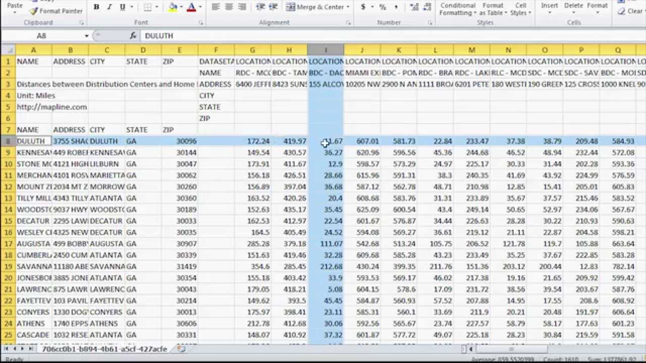 Map Multiple Locations From Excel Spreadsheet Free