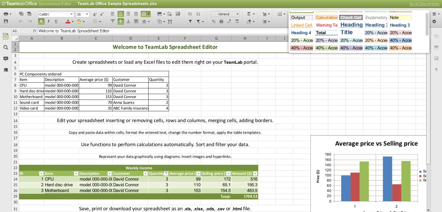 Online Spreadsheet Maker free download