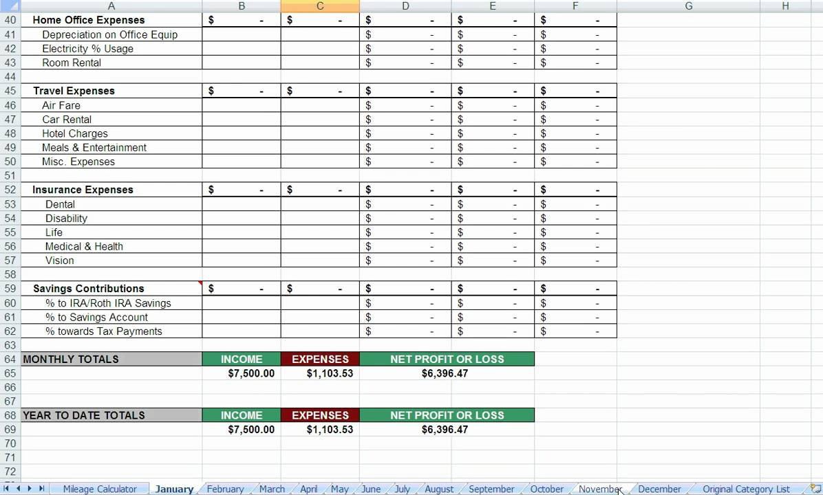 Real Estate Agent Expenses Spreadsheet Free