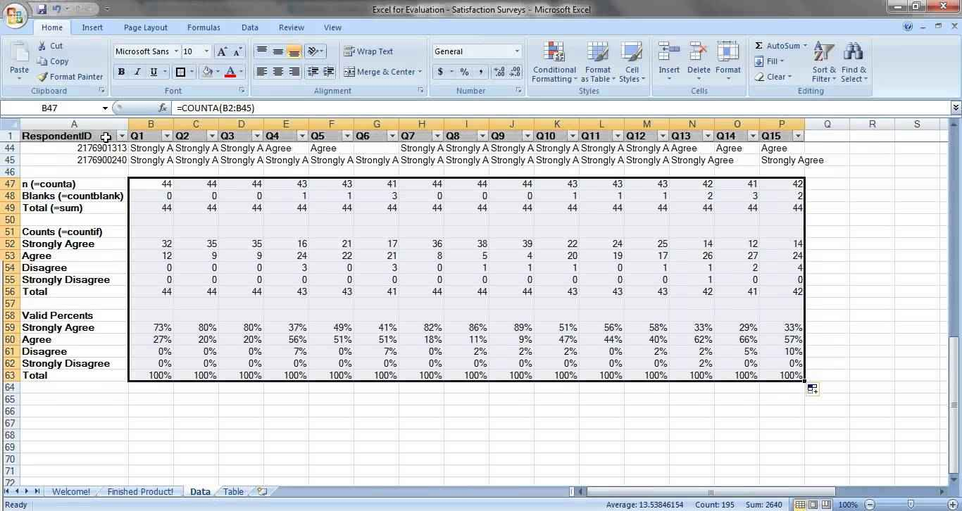 Sample Excel Spreadsheet With Data