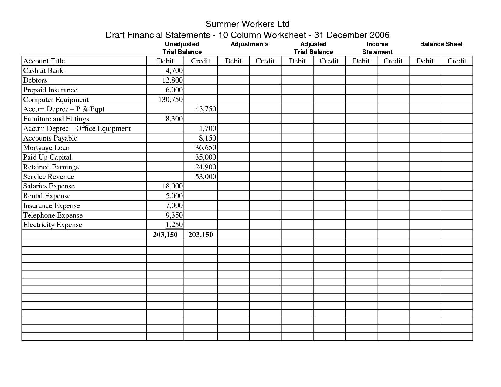 Simple Accounting Spreadsheet For Small Business (2)