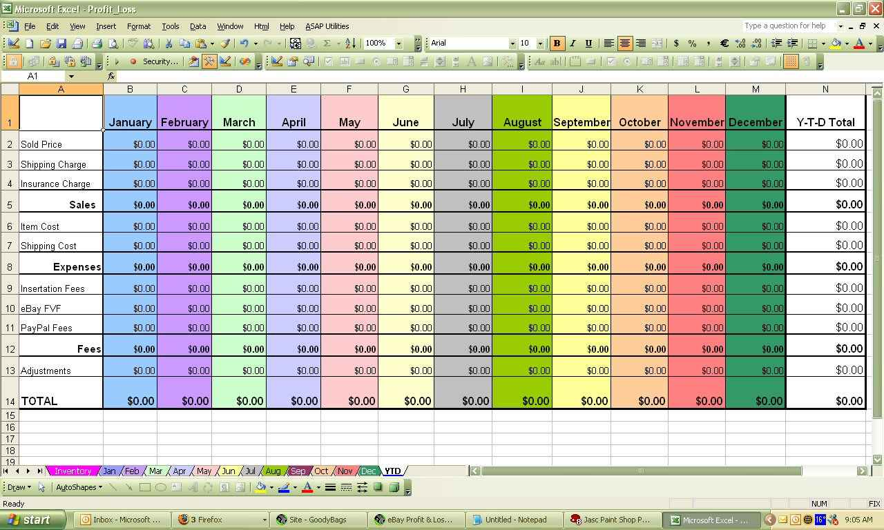 Small Business Income And Expenses Spreadsheet free