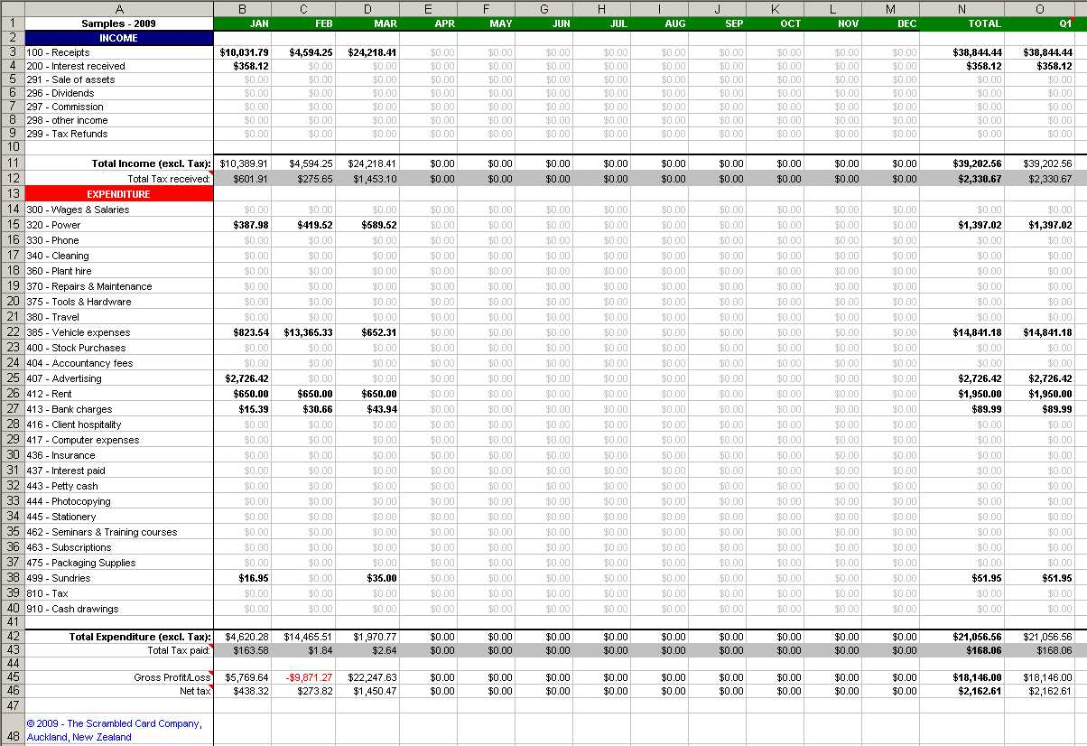 Spreadsheet For Business Plan