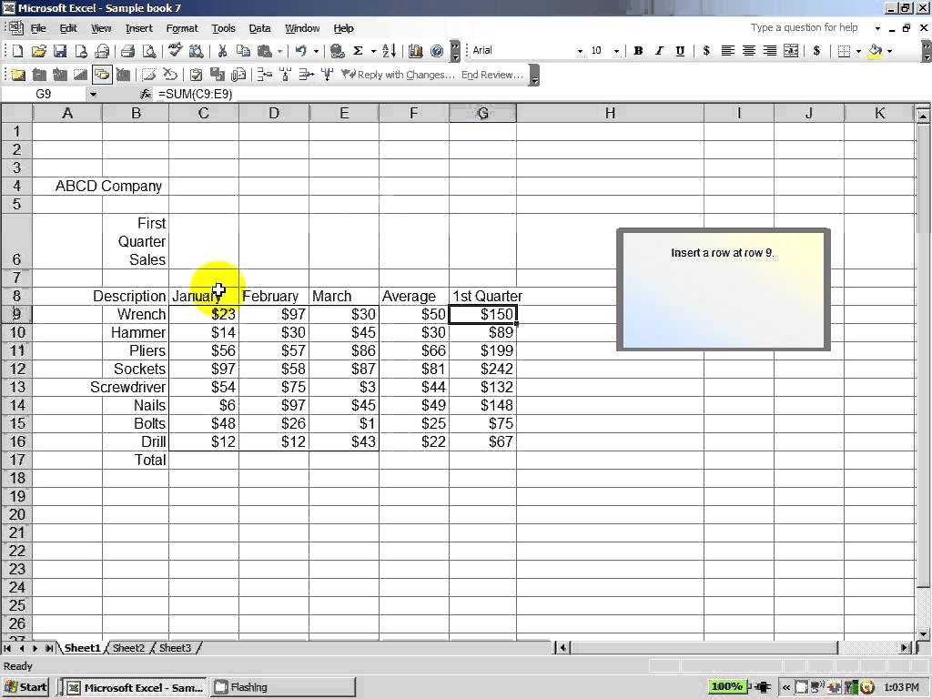 Spreadsheet Test For Interview