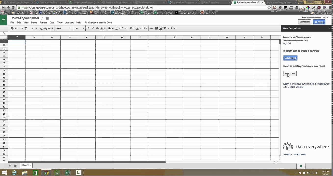 Templates salesforce google spreadsheet integration