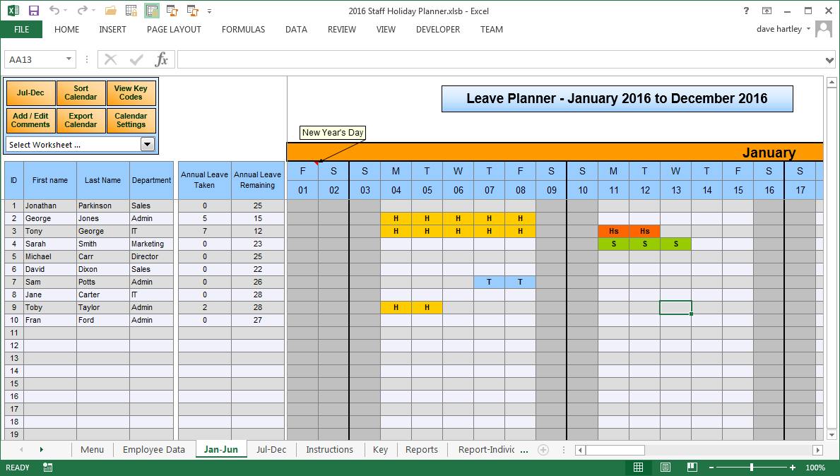Vacation Time Accrual Spreadsheet free