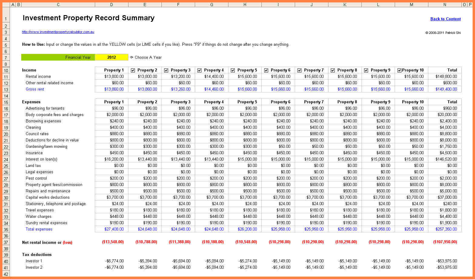 accounting for rental property spreadsheet free templates