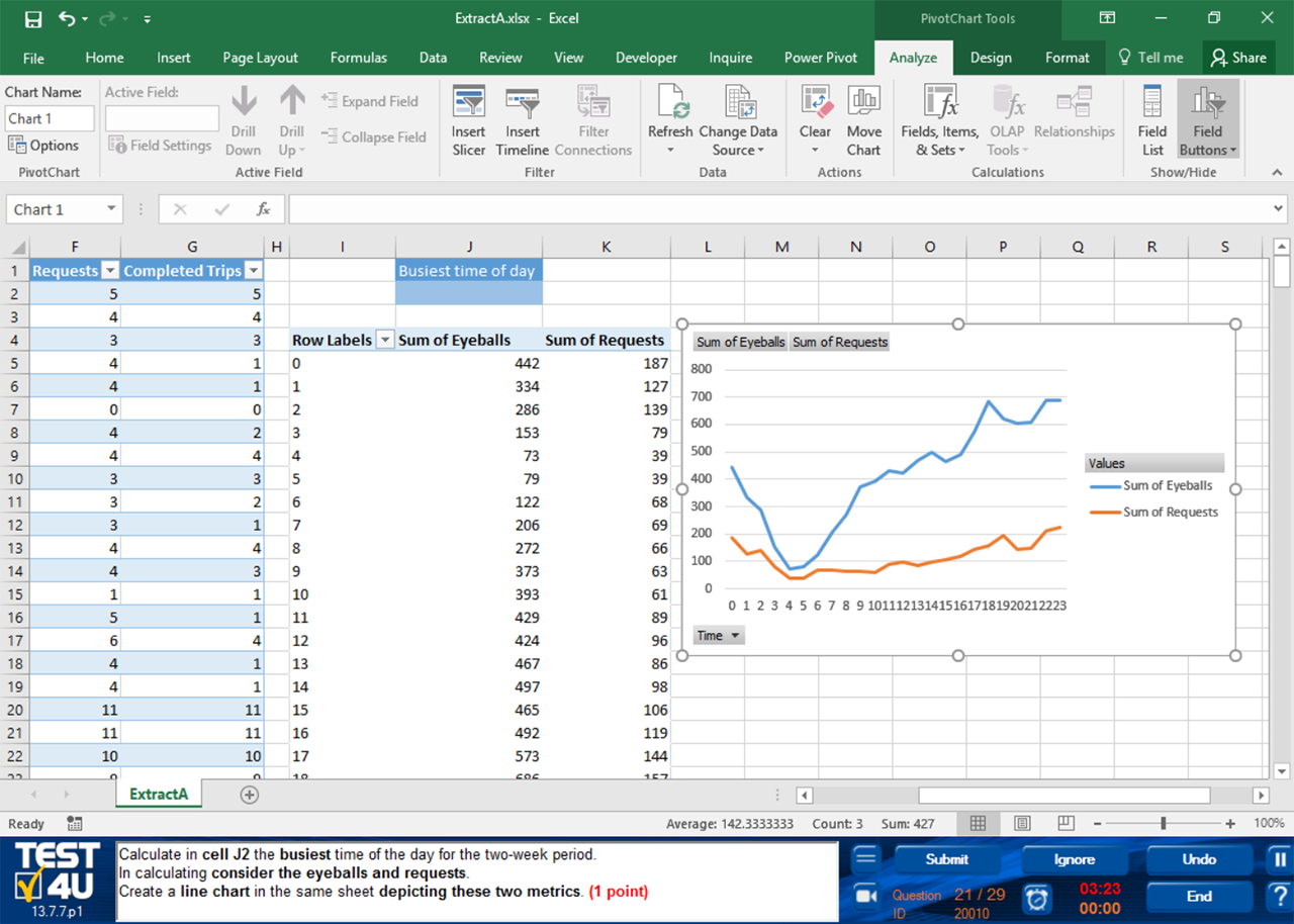 advanced excel test questions and answers