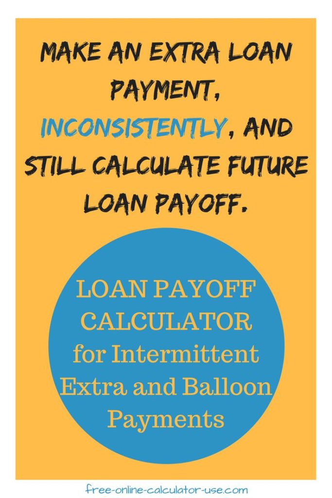 free amortization schedule with balloon payment