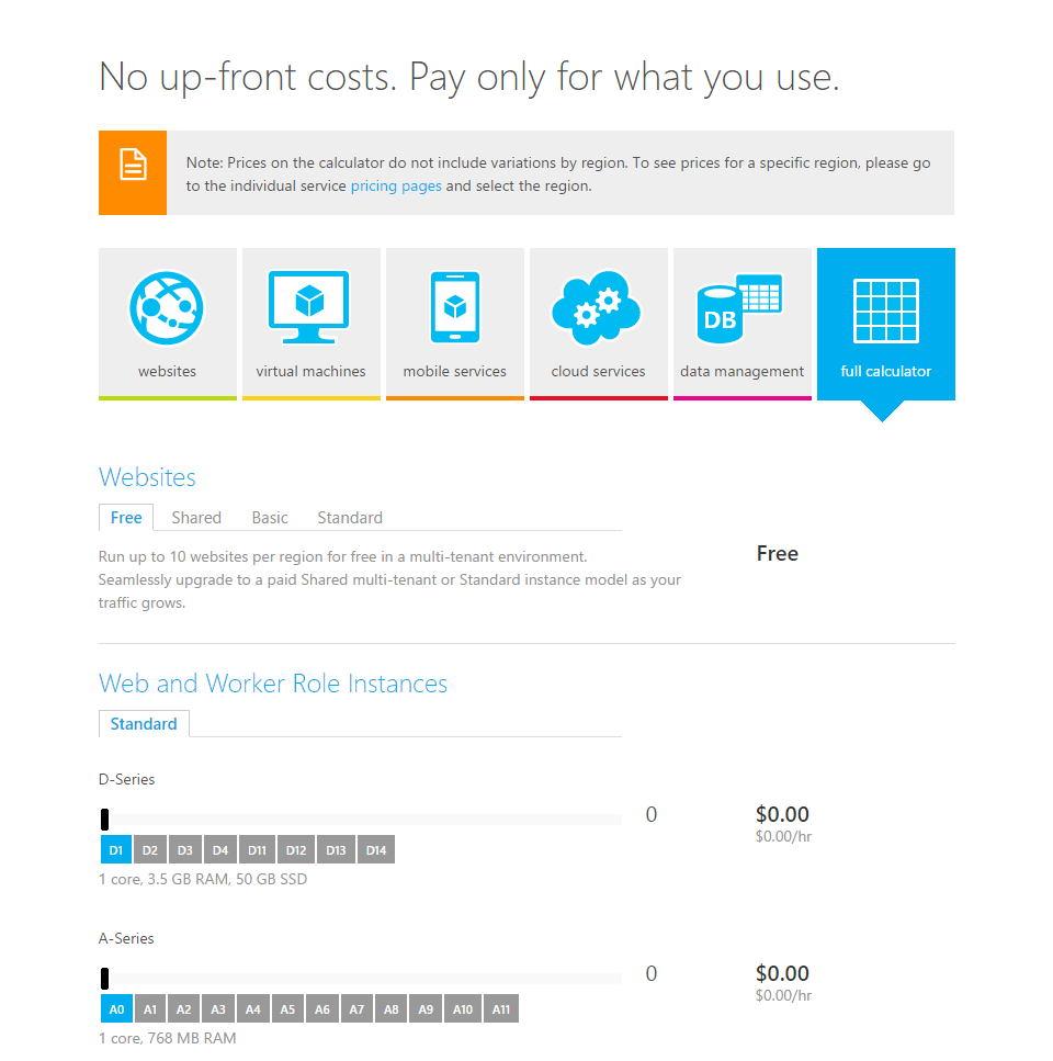 azure channel pricing calculator