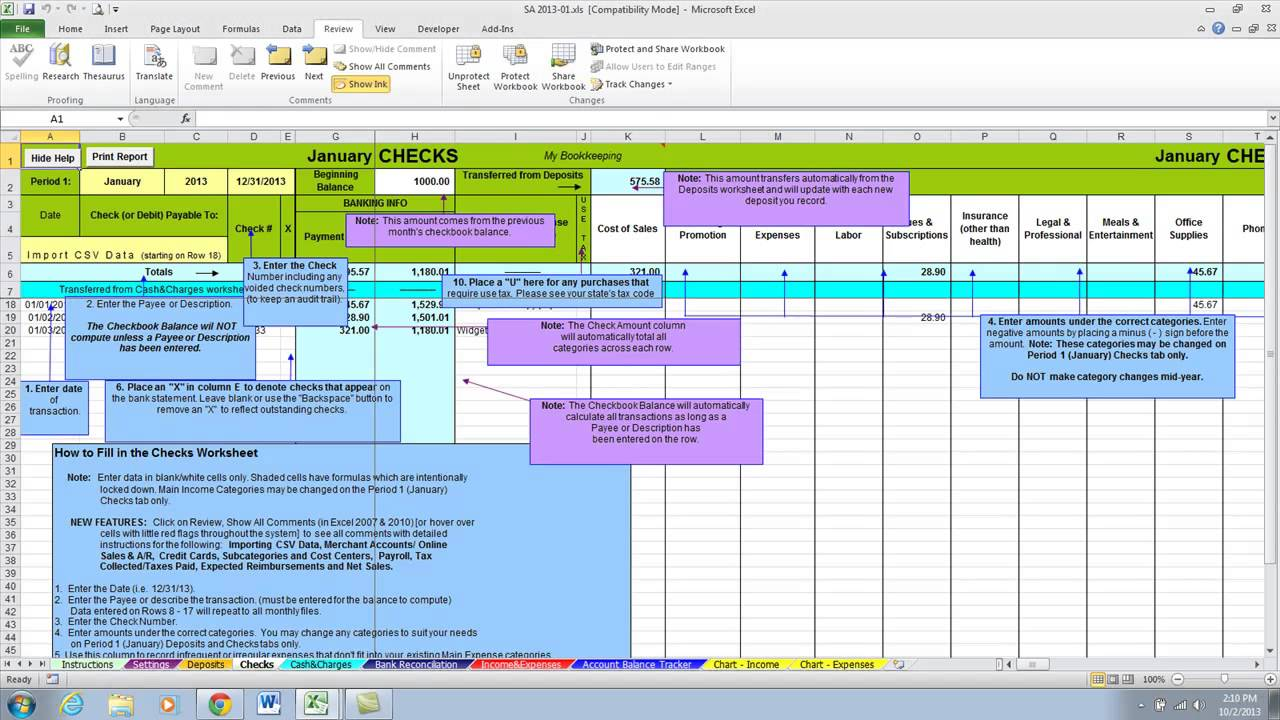 accounting spreadsheets excel