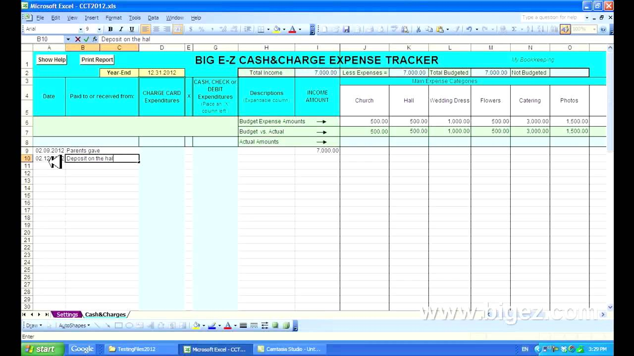 business expense tracker excel