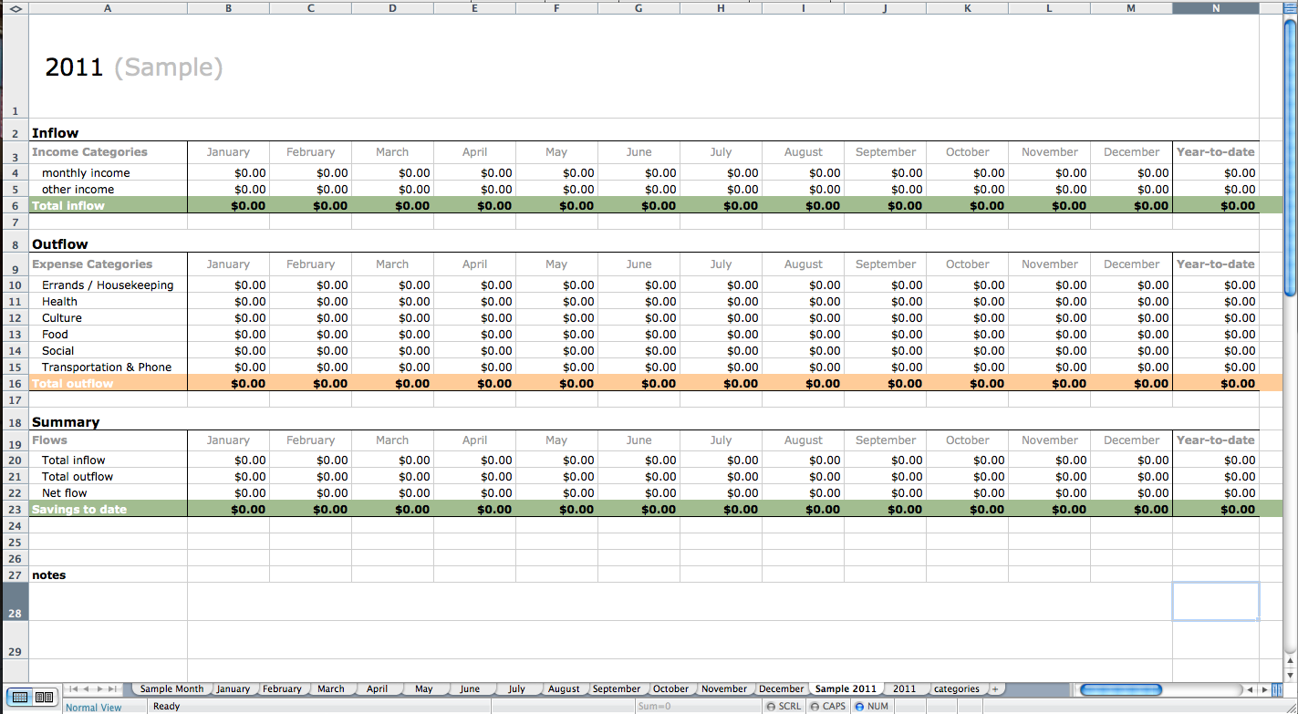 keep track of expenses excel