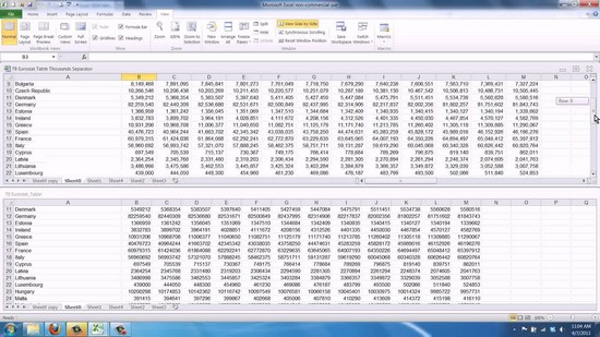 compare two excel spreadsheets for differences 2010