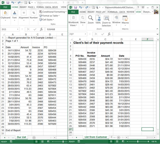 compare two excel workbooks for differences
