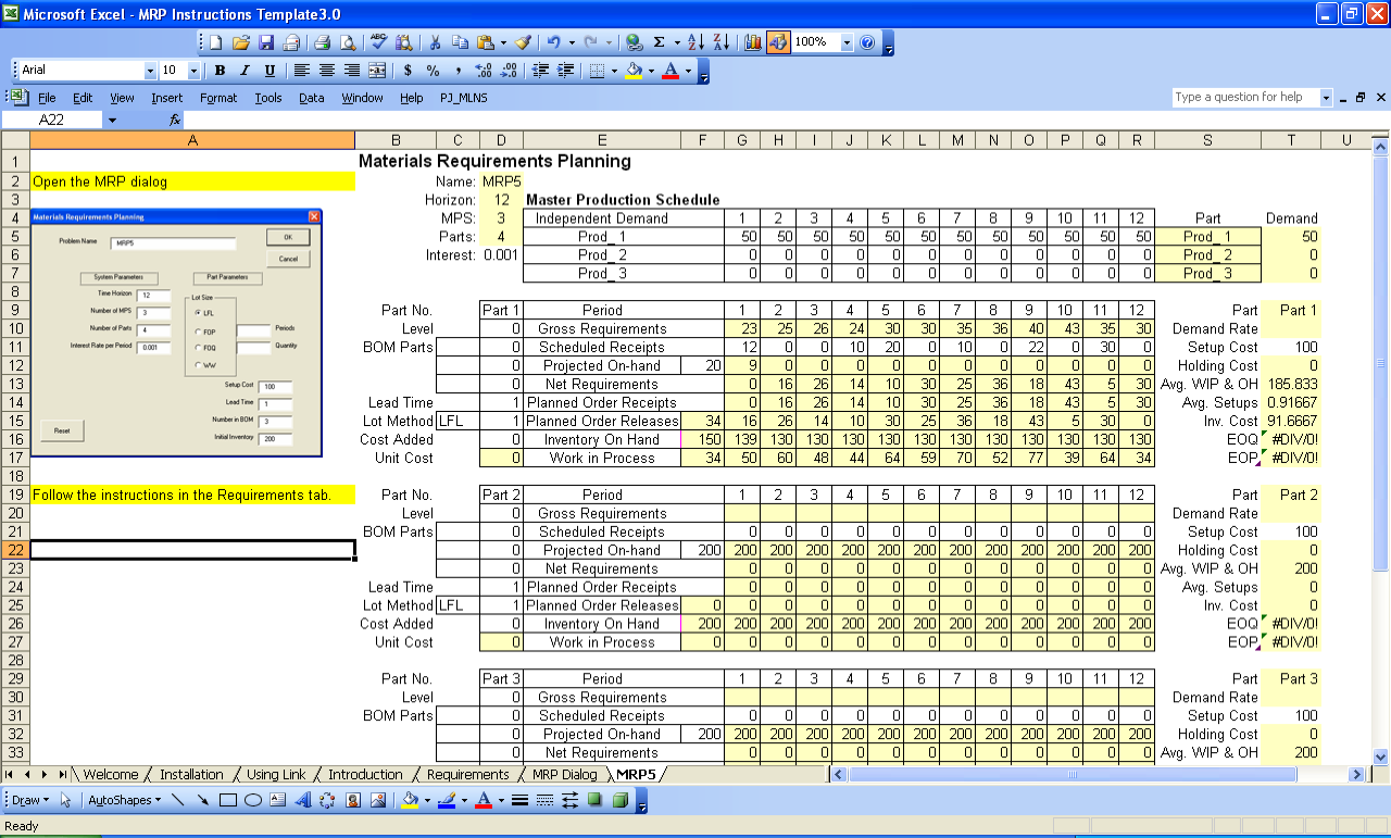 components of ms excel 2007