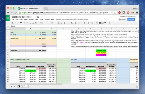 Debt Reduction Spreadsheet  LaobingkaisuoCom