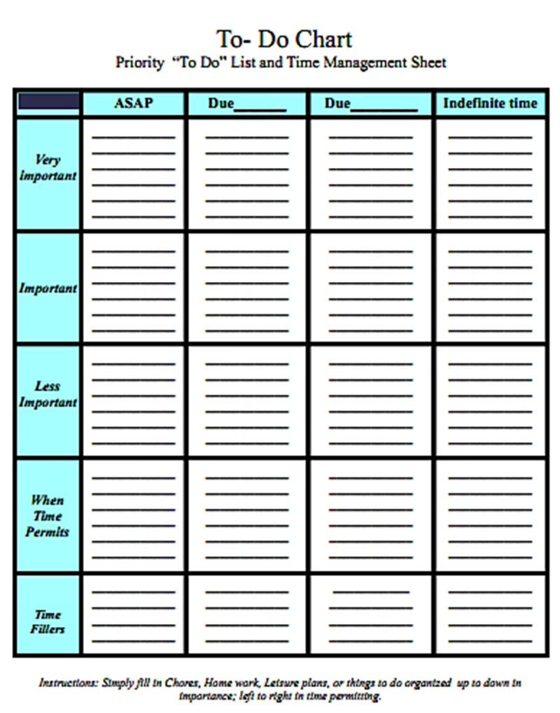 daily task list template excel