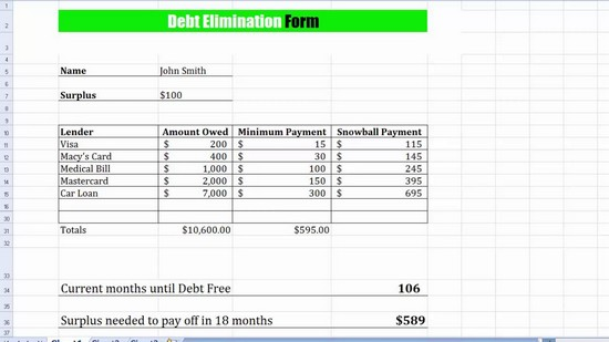 Debt Payoff Spreadsheet – Debt Payoff Worksheet