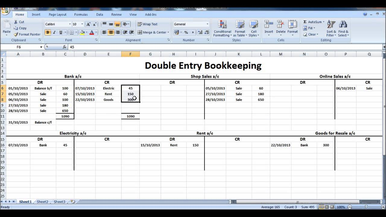Double Entry Accounting Spreadsheet | LAOBINGKAISUO.COM
