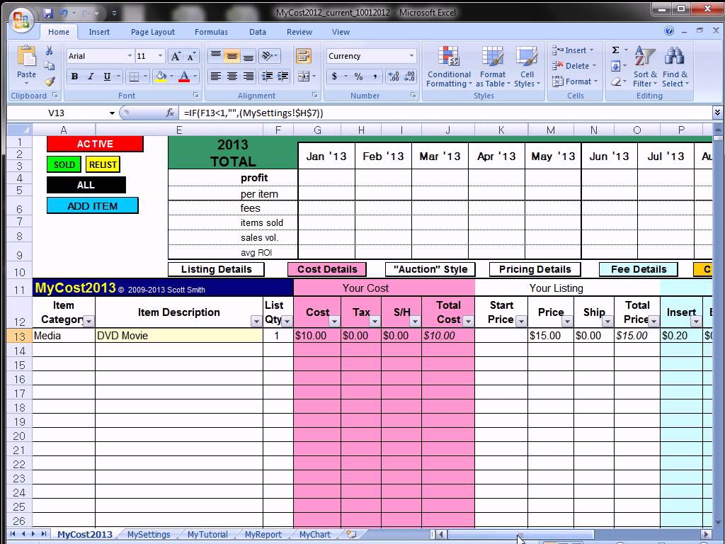 commission tracker excel