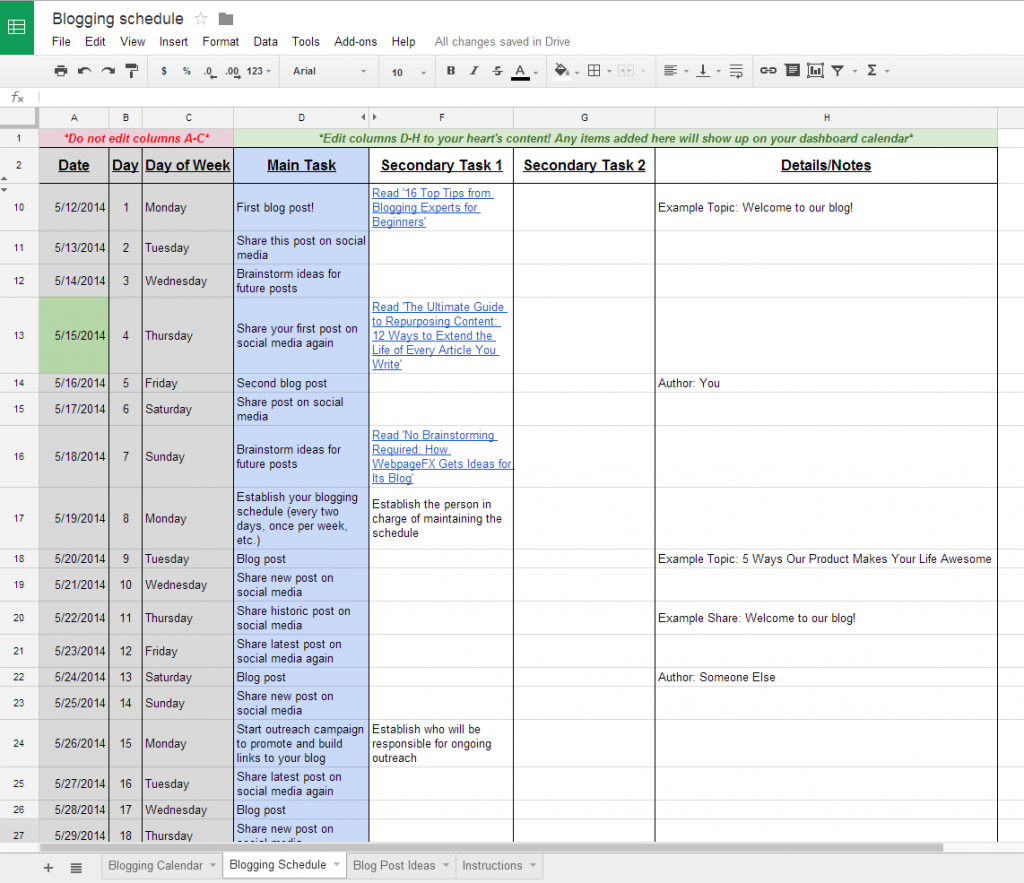 google docs employee schedule template