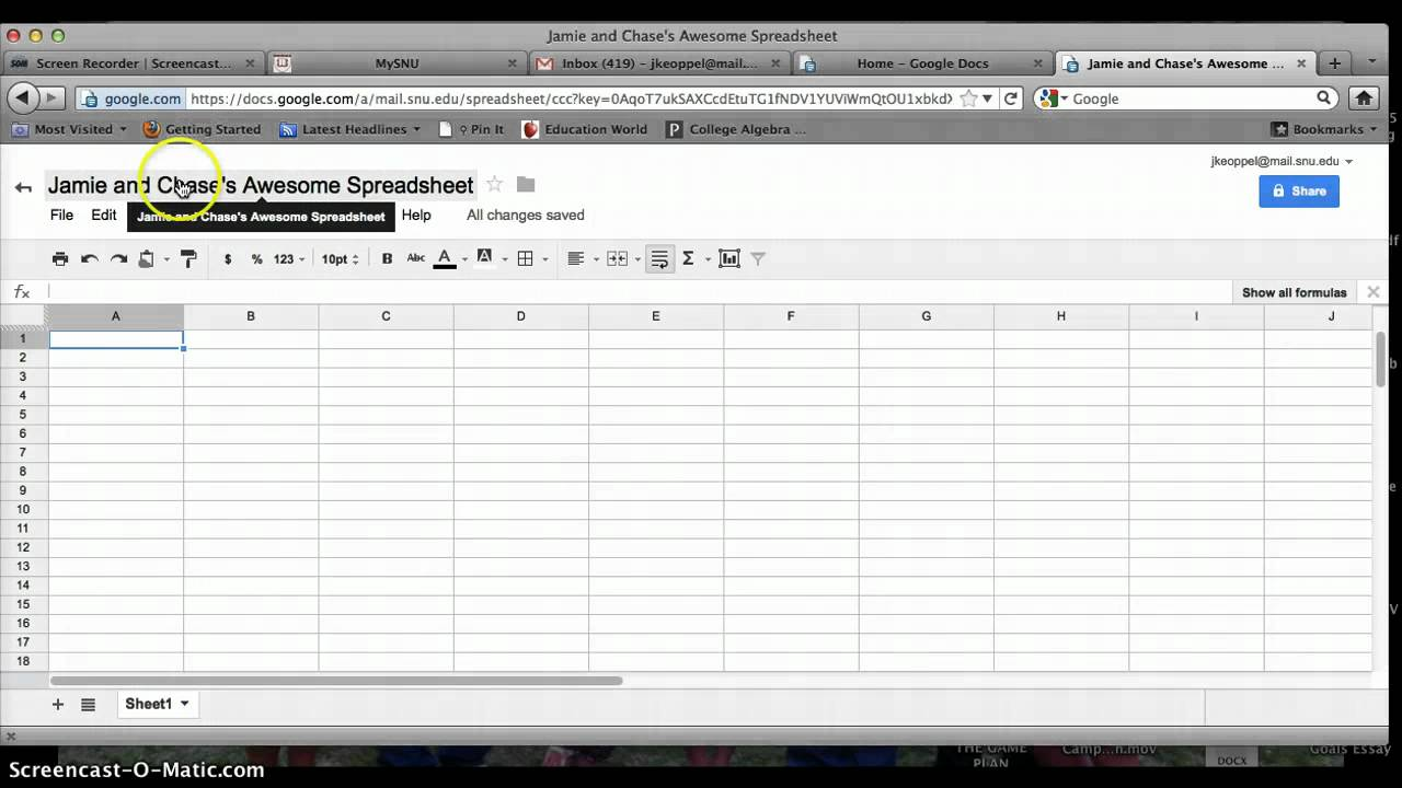 Google sheets tutorial laobingkaisuo google sheets for dummies google docs spreadsheet tutorial video download google docs spreadsheet tutorial free templates baditri Image collections