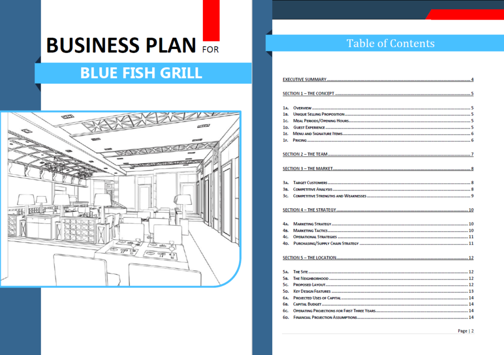 restaurant startup costs template