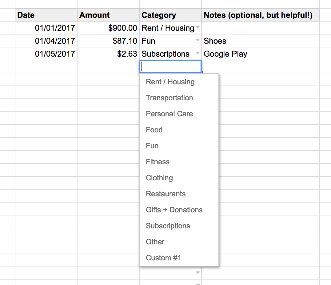 rent payment template