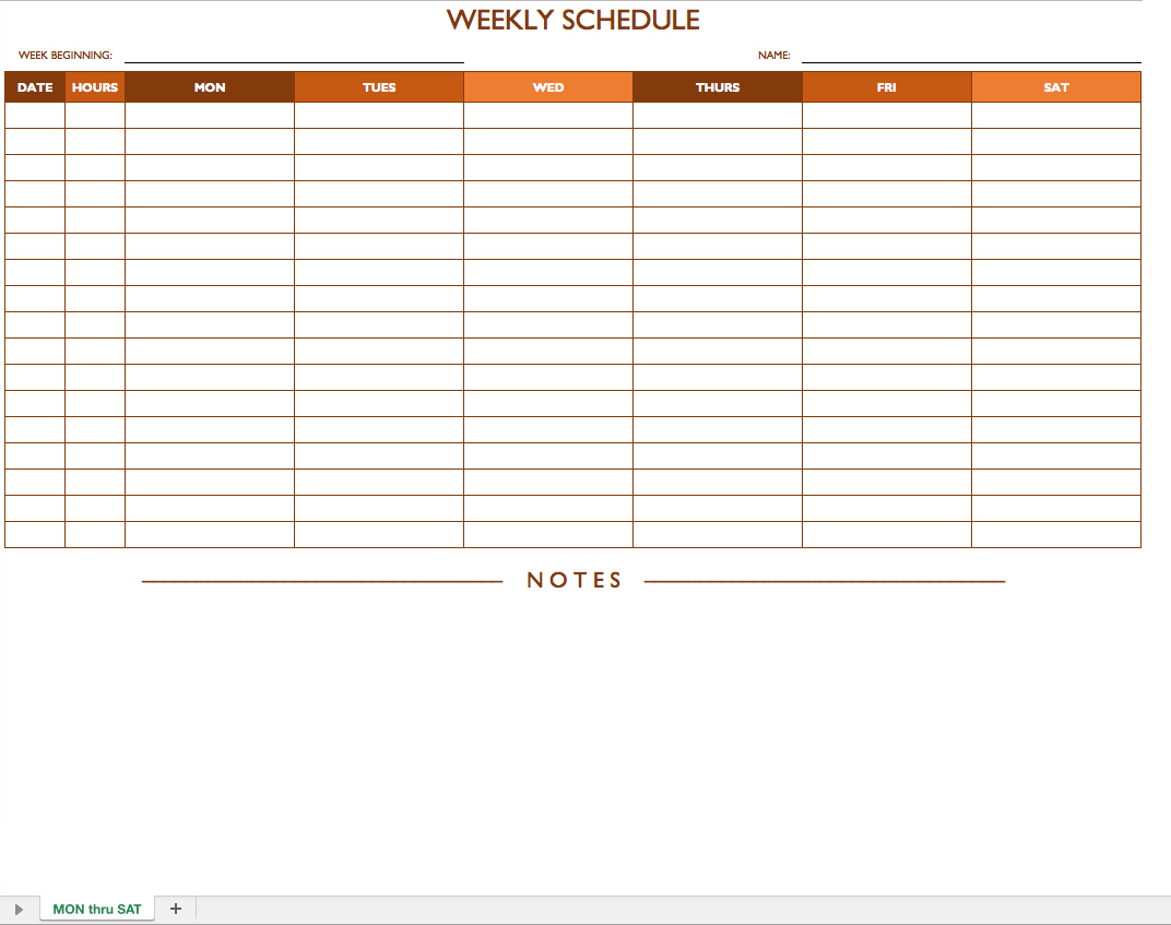 employee schedule template excel templates