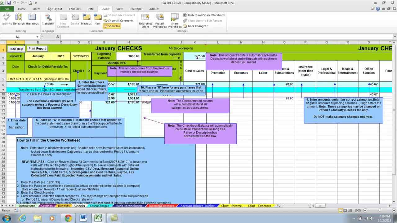 examples of spreadsheets software