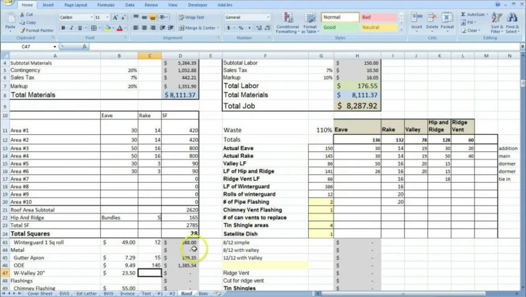 contract management excel template