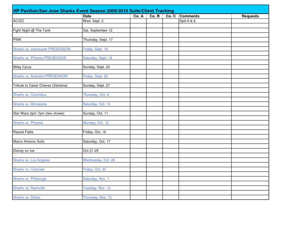 excel database template download