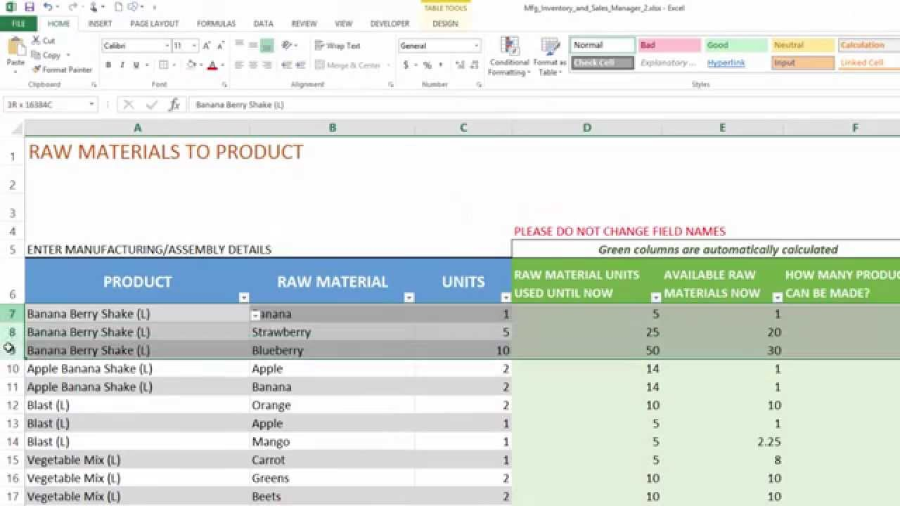 excel inventory spreadsheet template free download