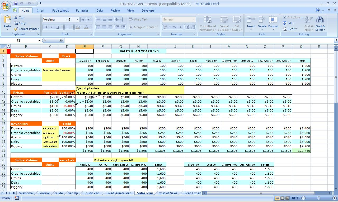 excel spreadsheet for small business accounting