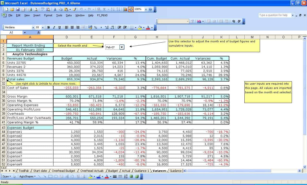 Free excel templates project management small business for Excel templates free download
