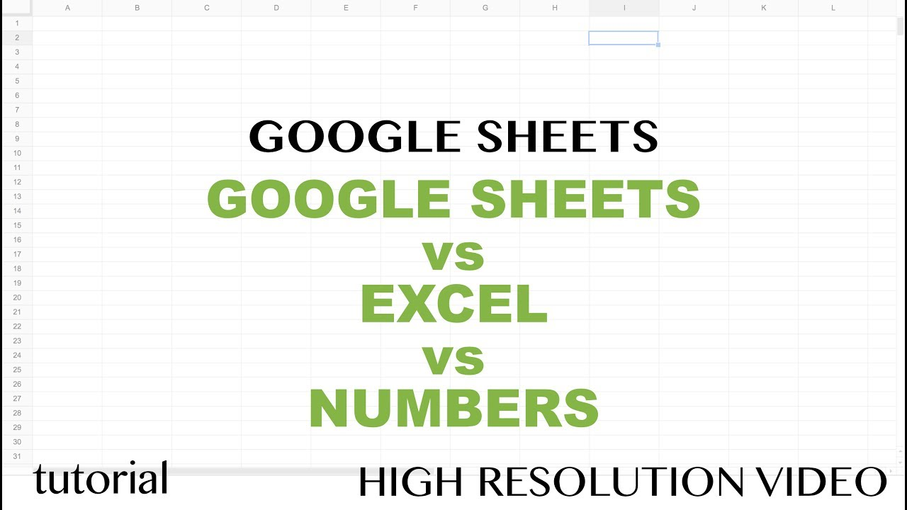 excel vs google sheets 2017