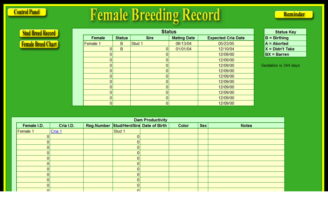 farm record keeping excel template