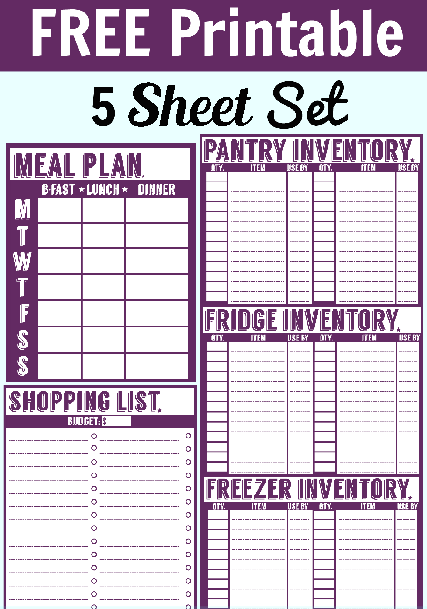 food storage inventory chart